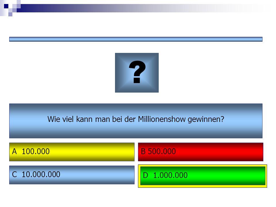 """Abschlussquiz """"Millionenshow – Anleitung: Für dieses Spiel bildet ihr mit euren Sitznachbarn Rateteams Wie in der echten Millionenshow bekommt ihr Fragen mit 4 Antwortmöglichkeiten."""