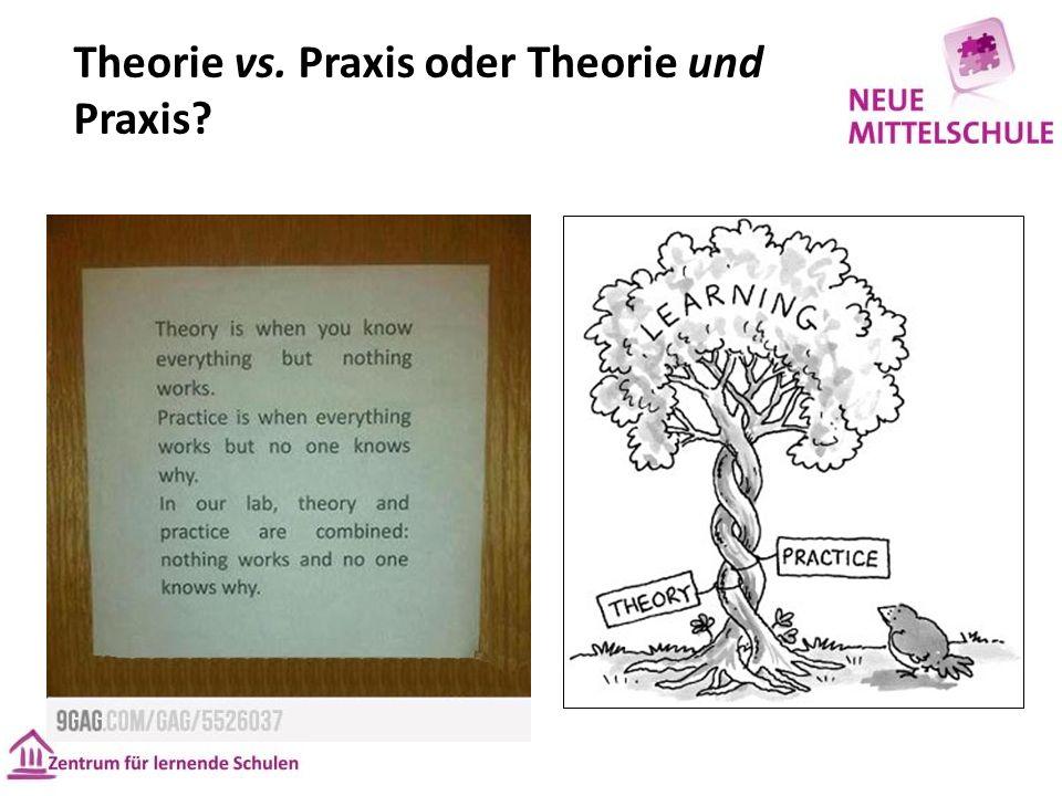 Theorie vs. Praxis oder Theorie und Praxis