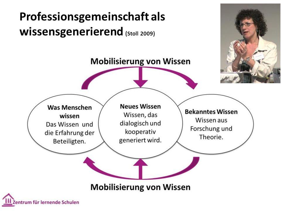 Professionsgemeinschaft als wissensgenerierend (Stoll 2009)