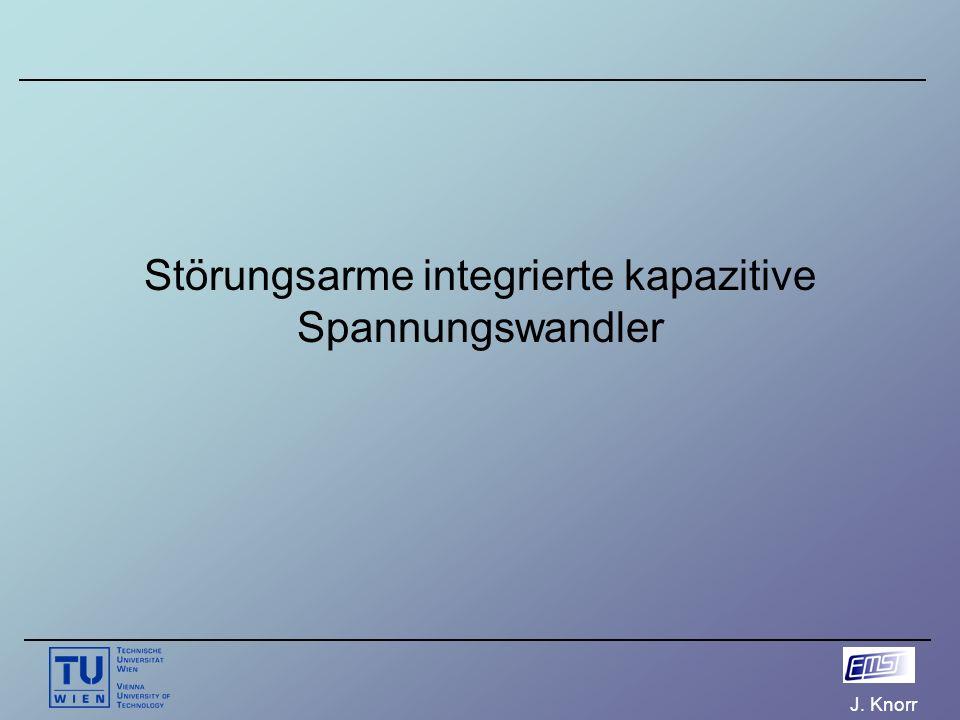 J. Knorr Störungsarme integrierte kapazitive Spannungswandler