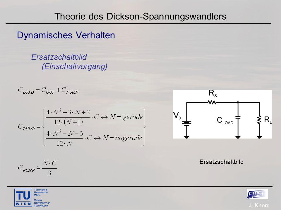J. Knorr Theorie des Dickson-Spannungswandlers Dynamisches Verhalten Ersatzschaltbild (Einschaltvorgang) Ersatzschaltbild