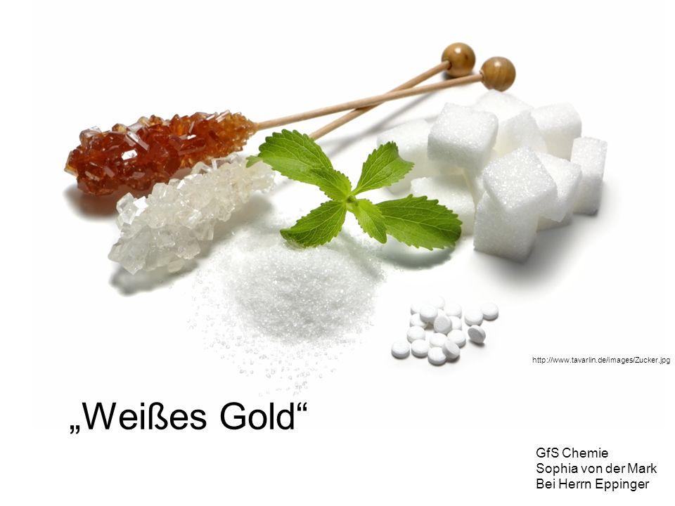 Gliederung Geschichte des Zuckers Chemie des Zuckers Polysaccharide Zuckergewinnung aus Zuckerrübe Zuckersorten –Kandiszucker Zuckerersatzstoffe –Süßstoffe –Zuckeraustauschstoffe Krankheiten im Zusammenhang mit Zucker Quellen
