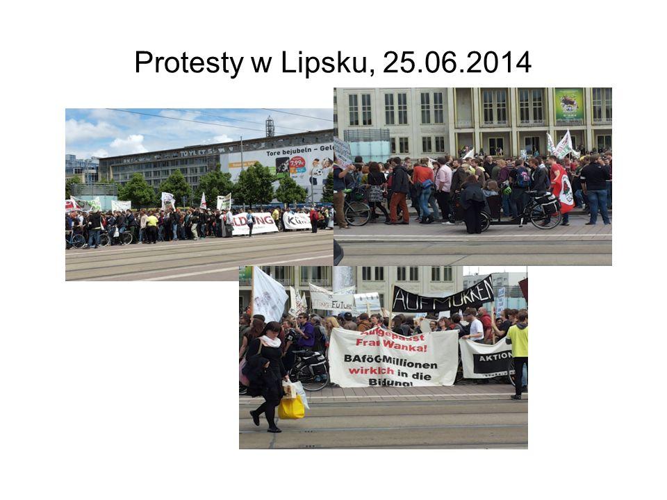Protesty w Lipsku, 25.06.2014