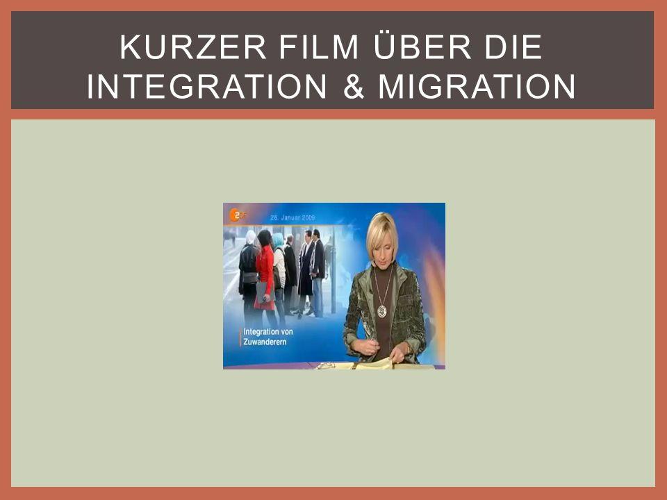 KURZER FILM ÜBER DIE INTEGRATION & MIGRATION