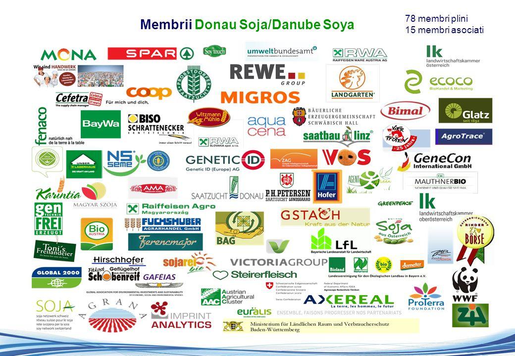 Membrii Donau Soja/Danube Soya 78 membri plini 15 membri asociati