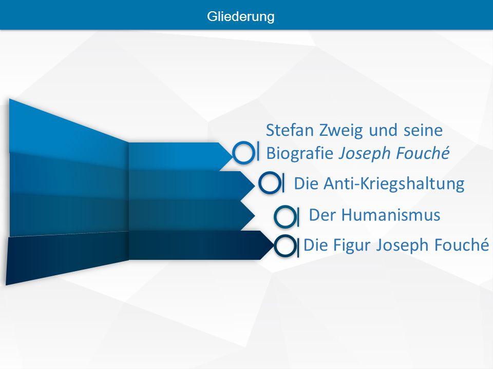 Stefan Zweig und seine Biografie Joseph Fouché Die Anti-Kriegshaltung Der Humanismus Die Figur Joseph Fouché Gliederung