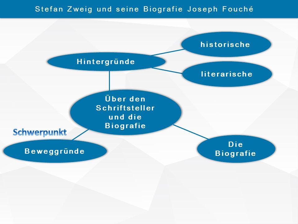 Über den Schriftsteller und die Biografie historische Die Biografie Beweggründe Hintergründe Stefan Zweig und seine Biografie Joseph Fouché literarisc