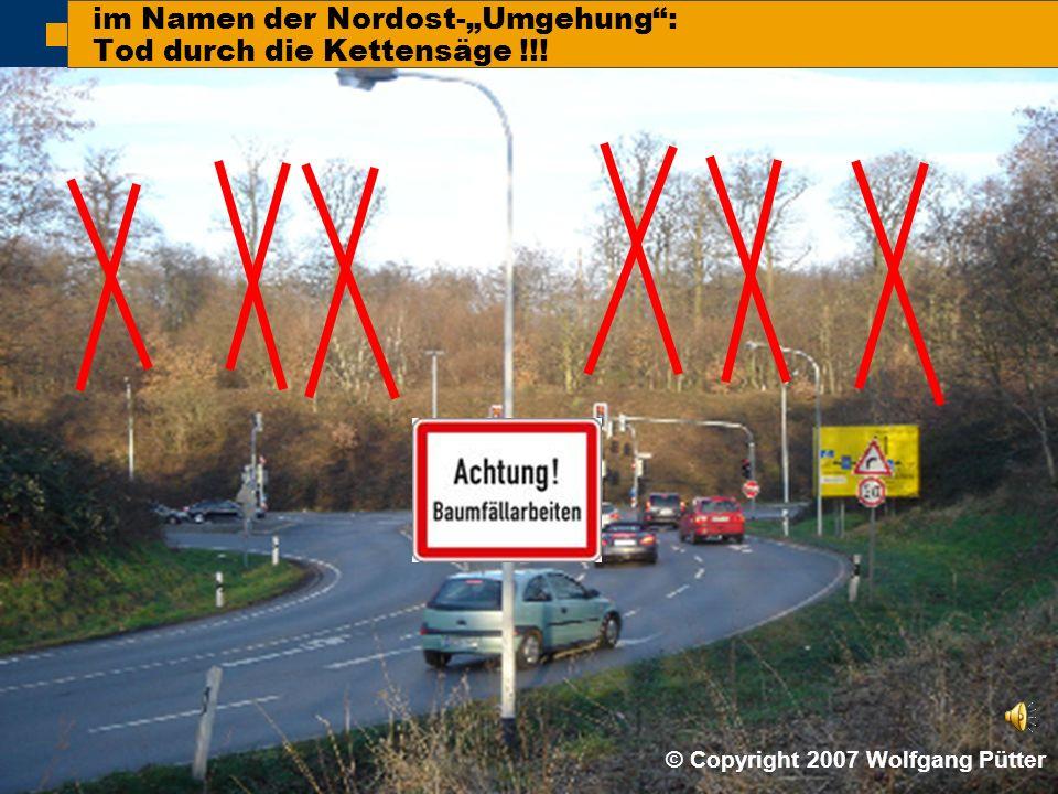 """ BI ONO ( Wolfgang Pütter) im Namen der Nordost-""""Umgehung : Tod durch die Kettensäge !!."""
