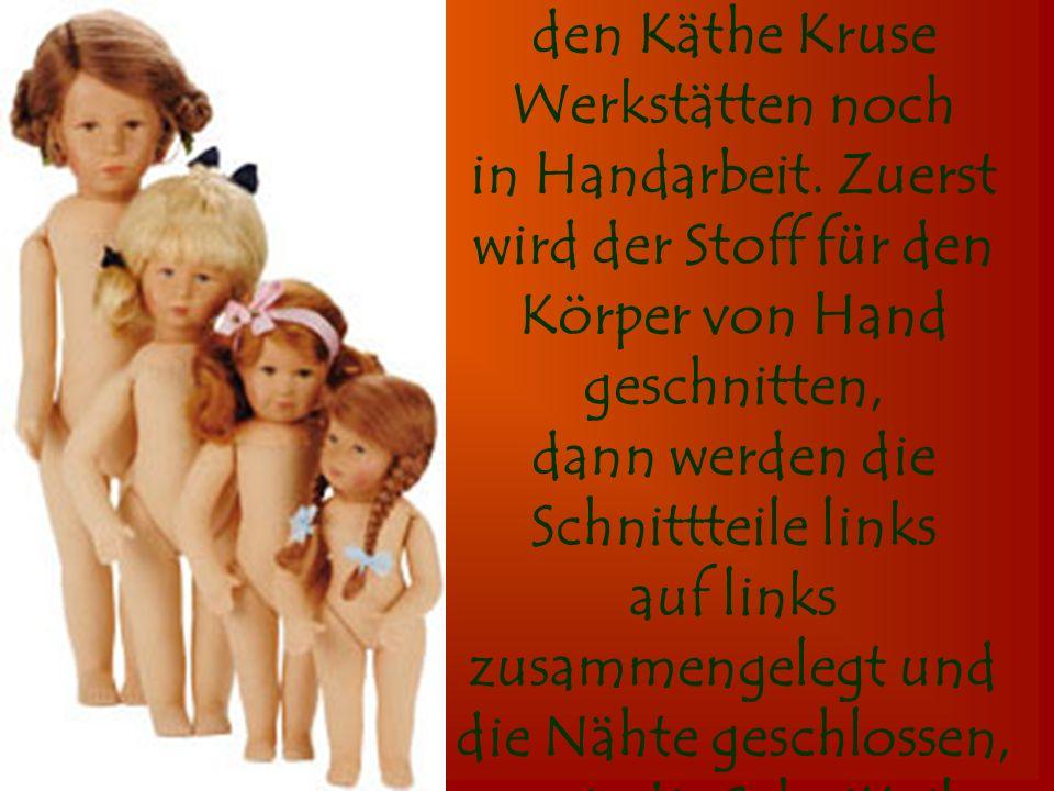 Auch heute entsteht der Puppenkörper in den Käthe Kruse Werkstätten noch in Handarbeit.