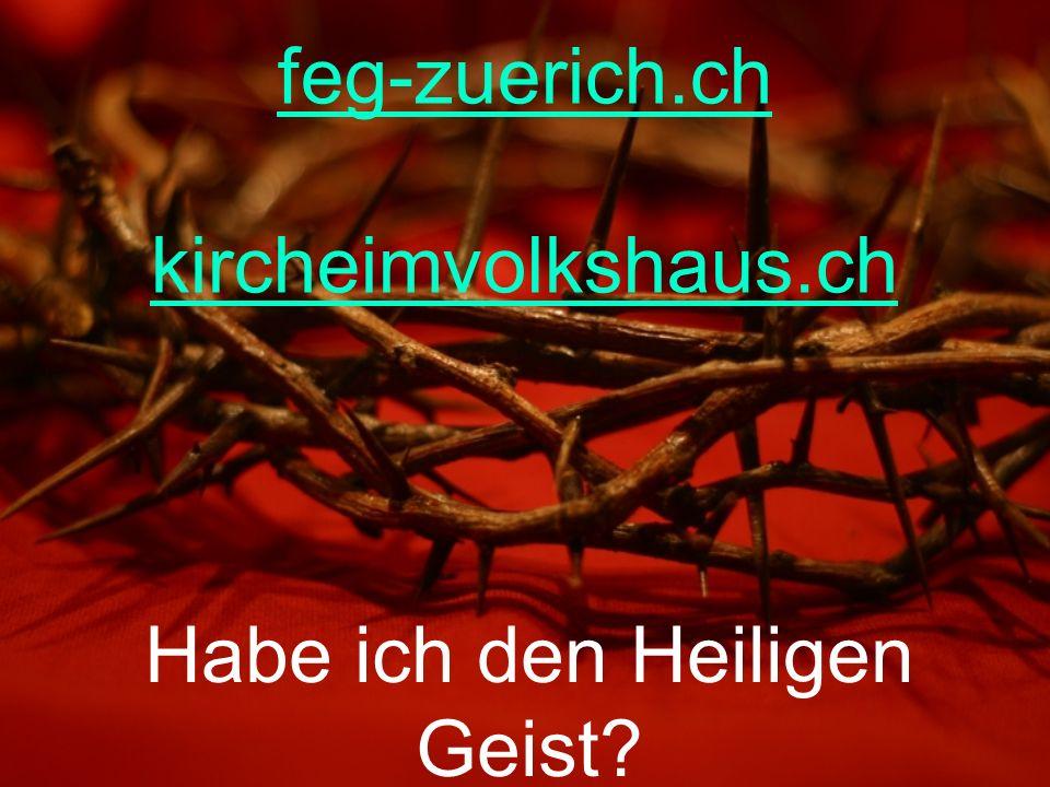 Habe ich den Heiligen Geist? feg-zuerich.ch kircheimvolkshaus.ch