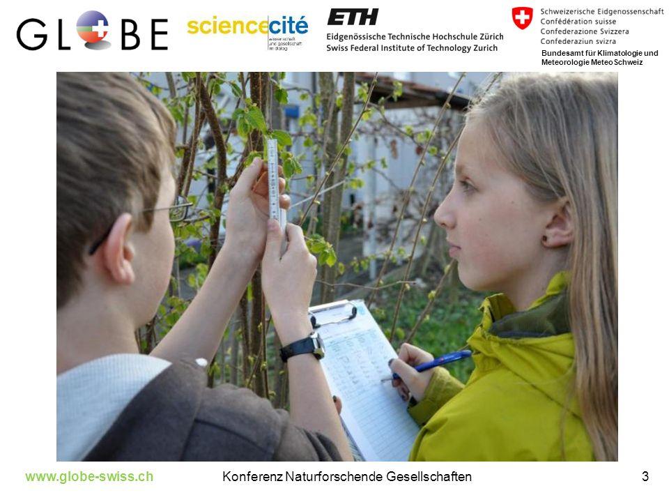 www.globe-swiss.chKonferenz Naturforschende Gesellschaften3 Bundesamt für Klimatologie und Meteorologie MeteoSchweiz