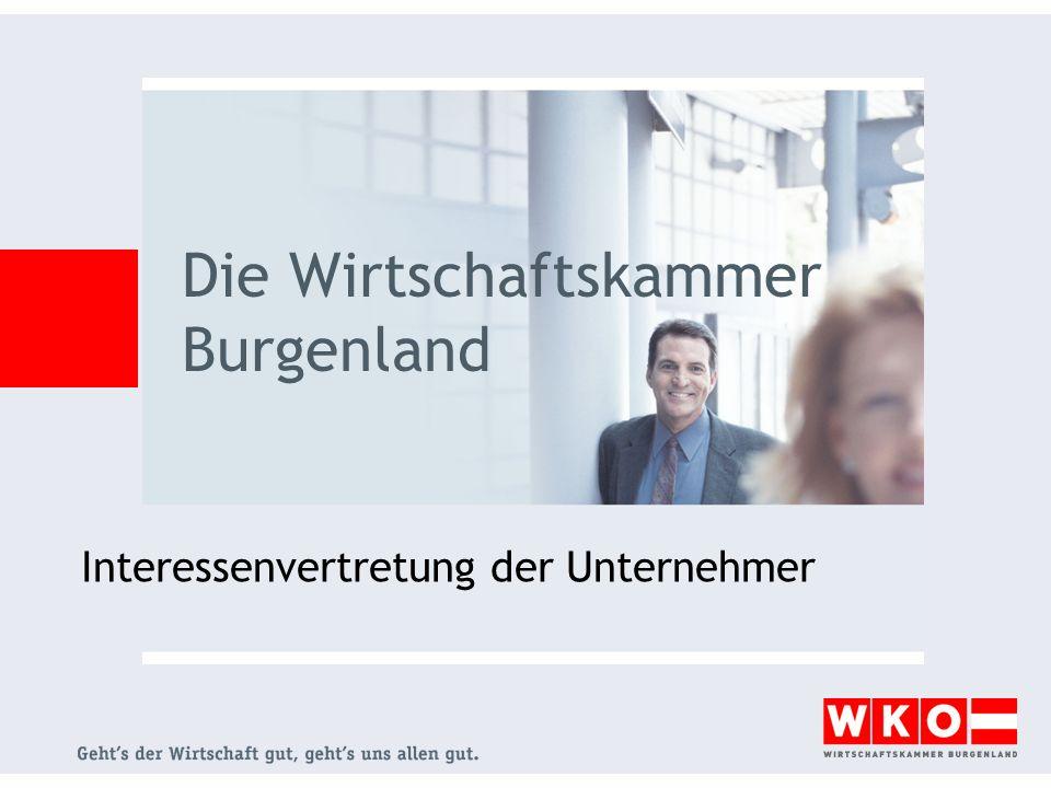 Interessenvertretung der Unternehmer Die Wirtschaftskammer Burgenland