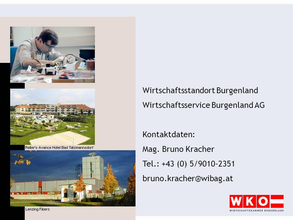 Wirtschaftsstandort Burgenland Wirtschaftsservice Burgenland AG Kontaktdaten: Mag.