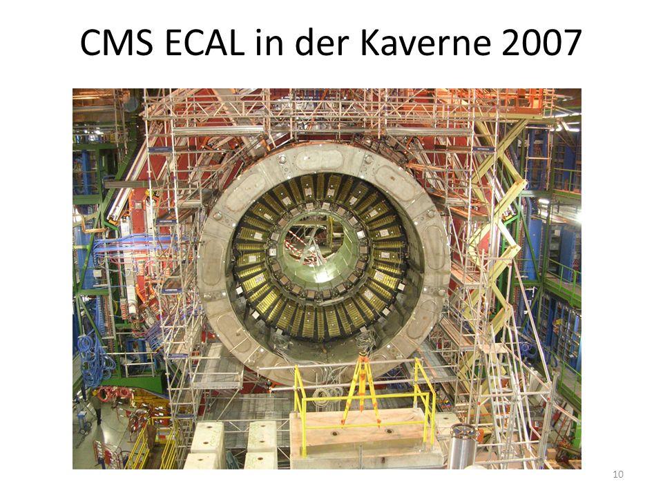 CMS ECAL in der Kaverne 2007 10