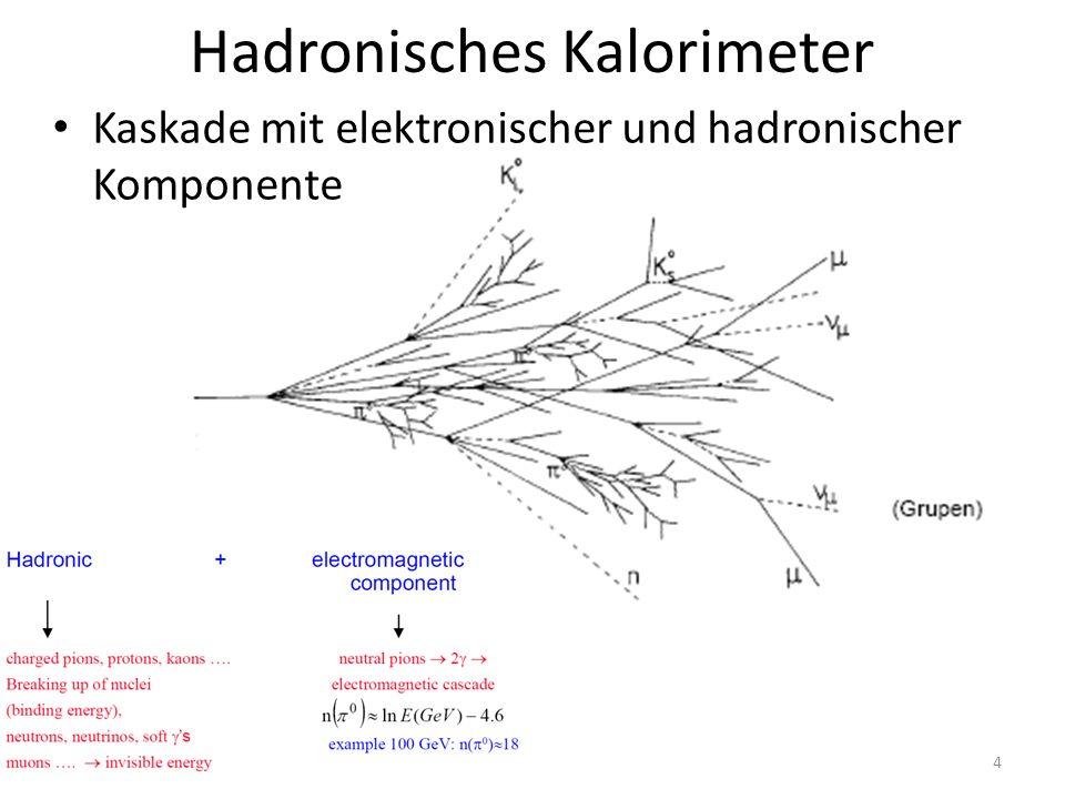 Hadronisches Kalorimeter Kaskade mit elektronischer und hadronischer Komponente 4