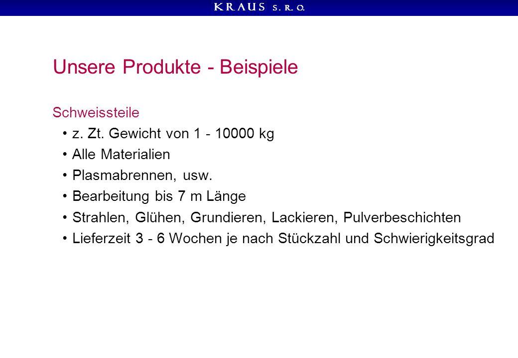 K R A U S s. r. o. Unsere Produkte - Beispiele Schweissteile z.