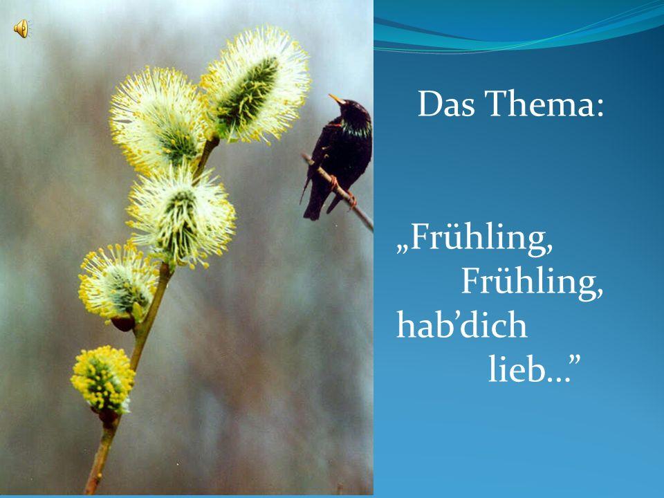"""Das Thema: """"Frühling, Frühling, hab'dich lieb…"""