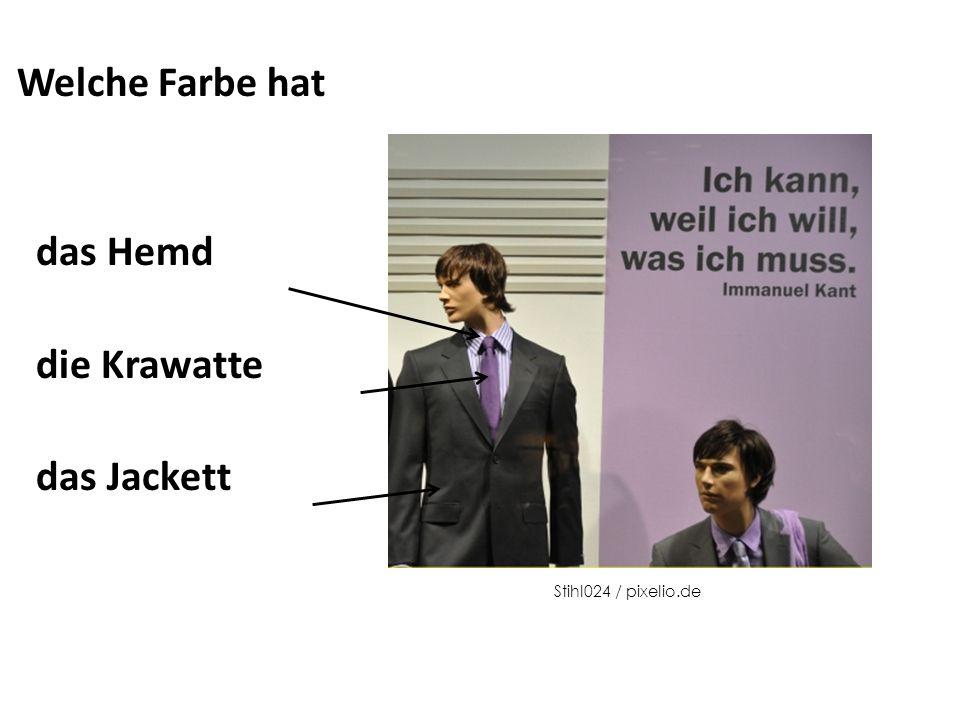 Welche Farbe hat das Hemd die Krawatte das Jackett Stihl024 / pixelio.de