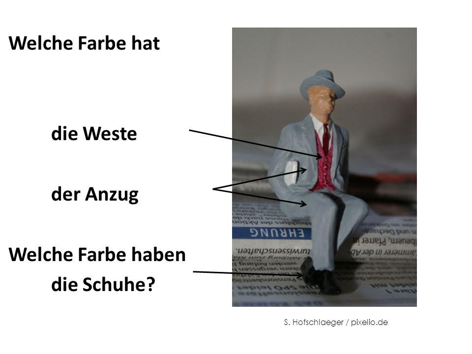 Welche Farbe hat die Weste der Anzug Welche Farbe haben die Schuhe S. Hofschlaeger / pixelio.de