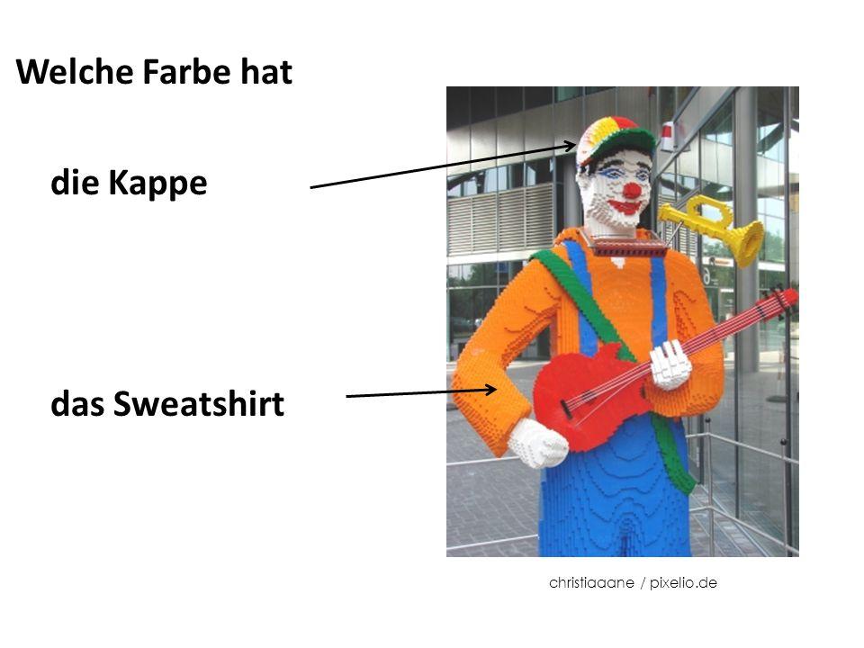 Welche Farbe hat die Kappe das Sweatshirt christiaaane / pixelio.de