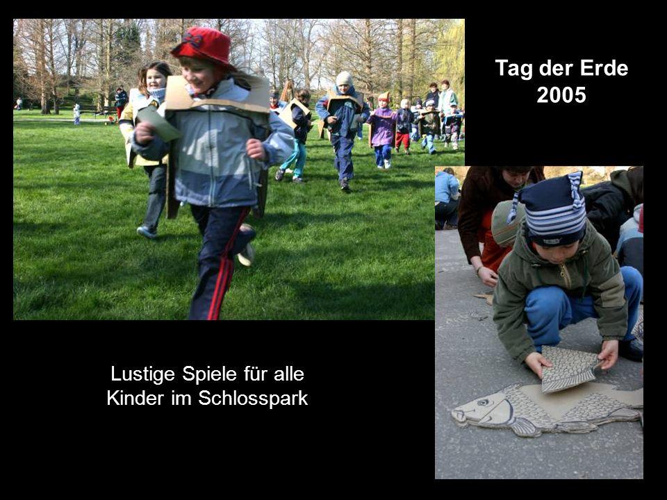 Tag der Erde 2005 Lustige Spiele für alle Kinder im Schlosspark