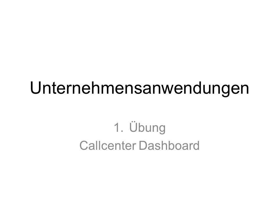 Unternehmensanwendungen 1.Übung Callcenter Dashboard