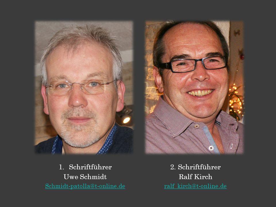 1.Schriftführer Uwe Schmidt Schmidt-patolla@t-online.de 2.