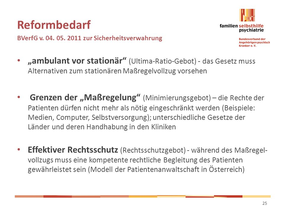 Reformbedarf BVerfG v. 04. 05.