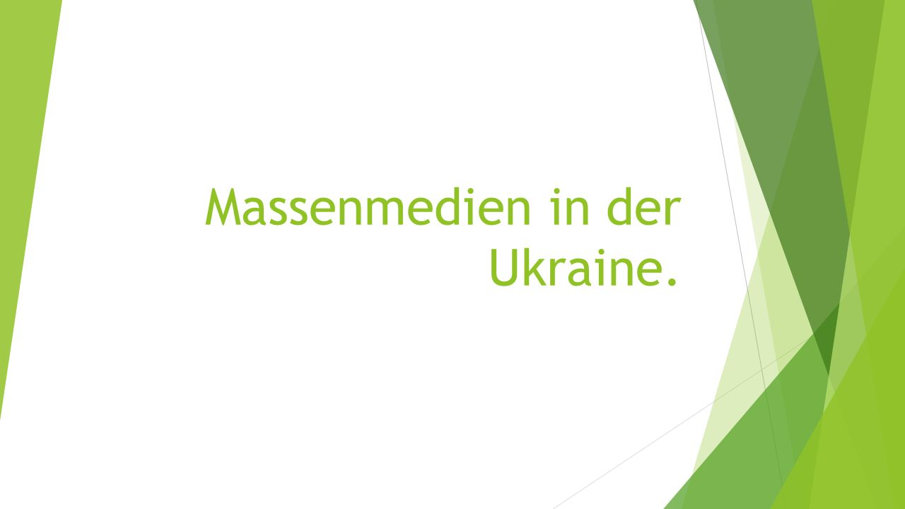 Massenmedien in der Ukraine.