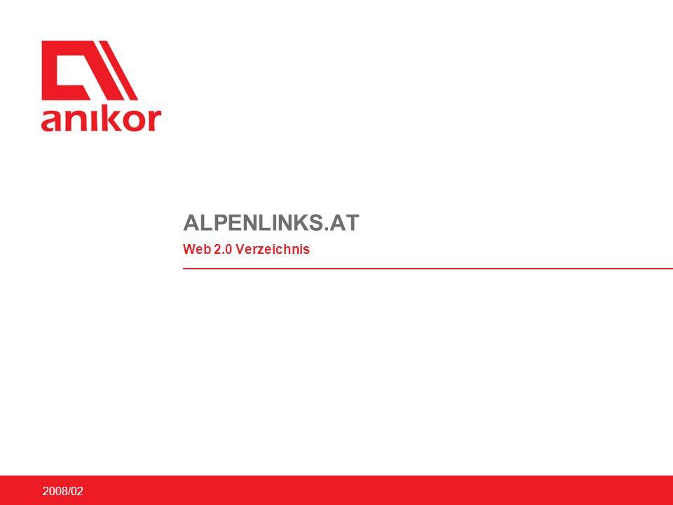 2008/02 ALPENLINKS.AT Web 2.0 Verzeichnis