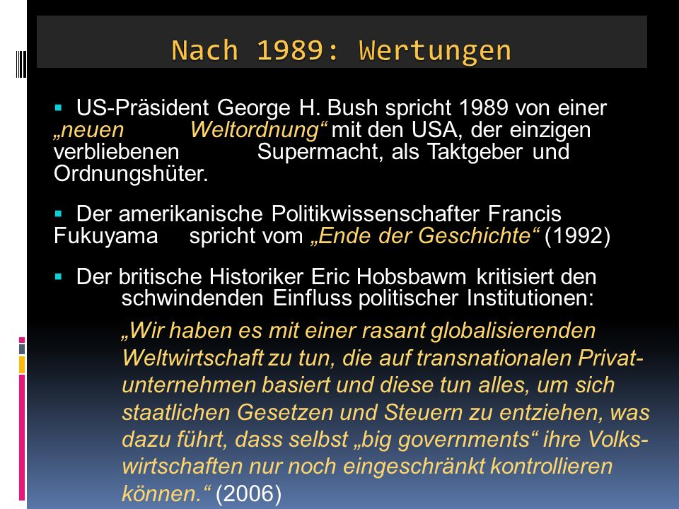  US-Präsident George H.