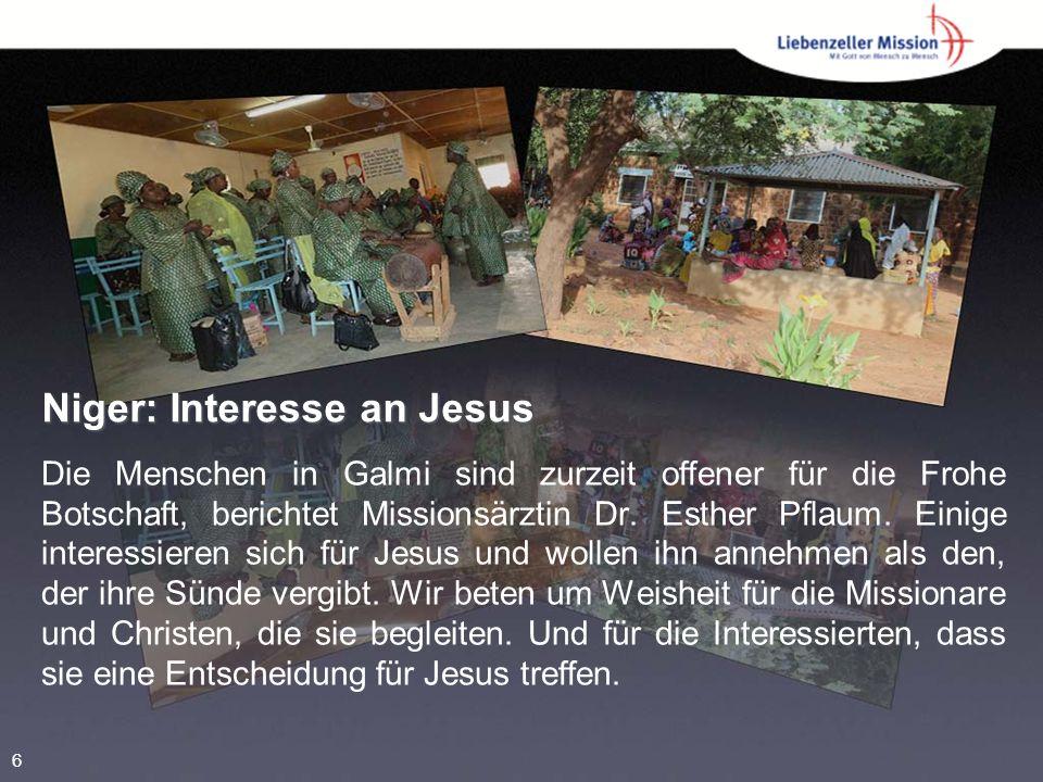 Niger: Interesse an Jesus Die Menschen in Galmi sind zurzeit offener für die Frohe Botschaft, berichtet Missionsärztin Dr.