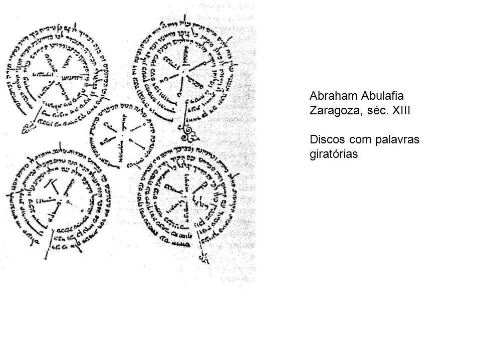 Abraham Abulafia Zaragoza, séc. XIII Discos com palavras giratórias
