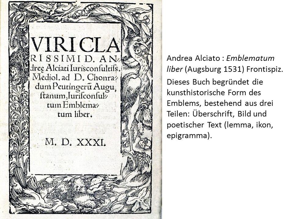 Andrea Alciato : Emblematum liber (Augsburg 1531) Frontispiz.