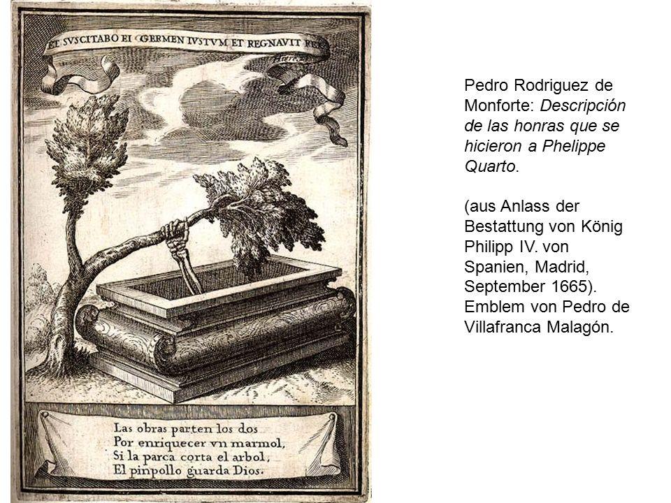 Pedro Rodriguez de Monforte: Descripción de las honras que se hicieron a Phelippe Quarto.