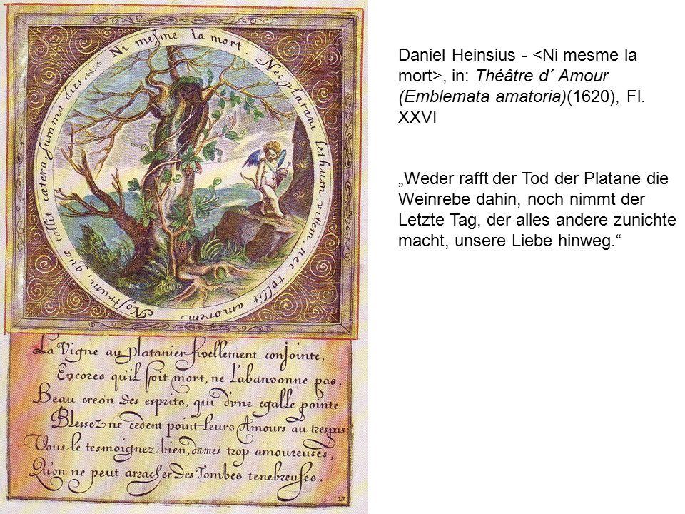 Daniel Heinsius -, in: Théâtre d´ Amour (Emblemata amatoria)(1620), Fl.