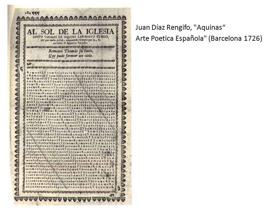 Juan Díaz Rengifo, Aquinas Arte Poetica Española (Barcelona 1726)