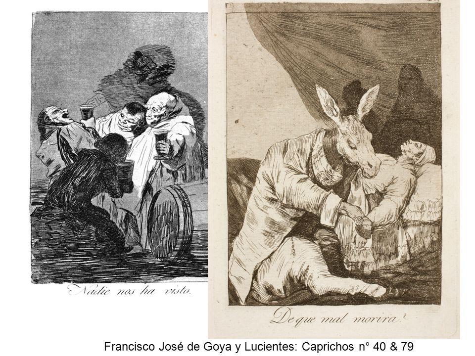 Francisco José de Goya y Lucientes: Caprichos n° 40 & 79