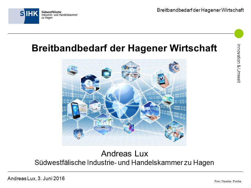 Breitbandbedarf der Hagener Wirtschaft Andreas Lux, 3.