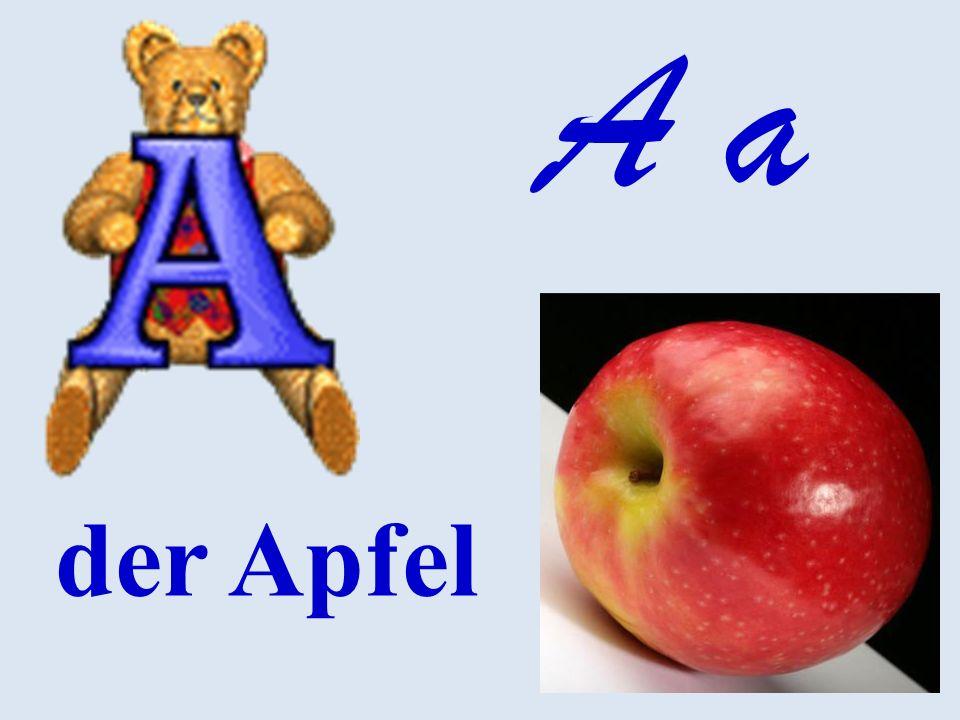 A a der Apfel