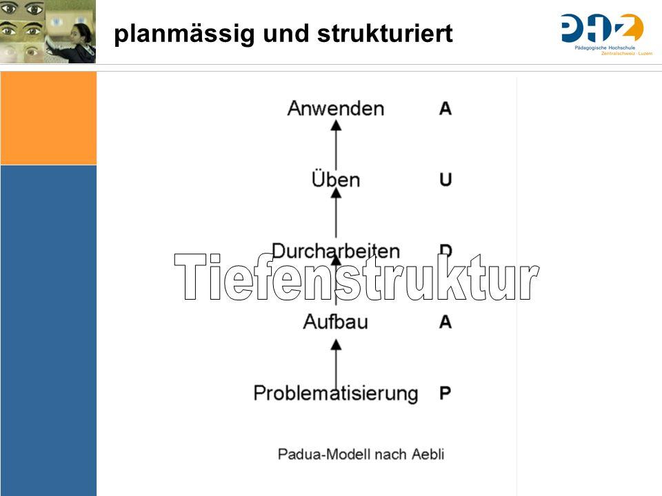 Sache Bedingungen Bedeutung & Sinn Thematik Lernziele Arrangements Ergebnissicherung Evaluation planmässig und strukturiert
