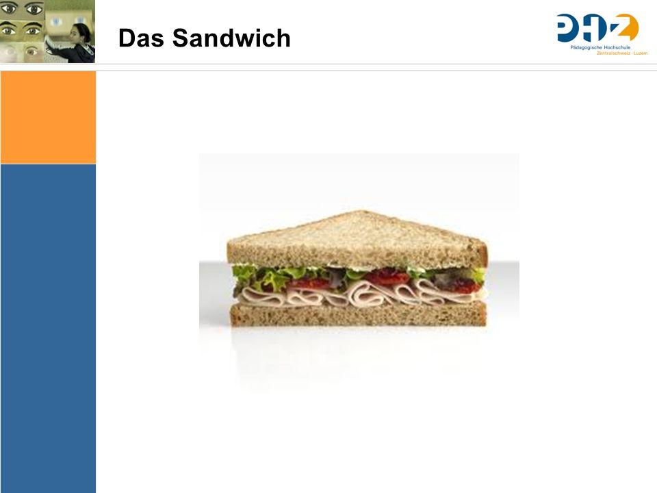 Sache Bedingungen Bedeutung & Sinn Thematik Lernziele Arrangements Ergebnissicherung Evaluation Das Sandwich