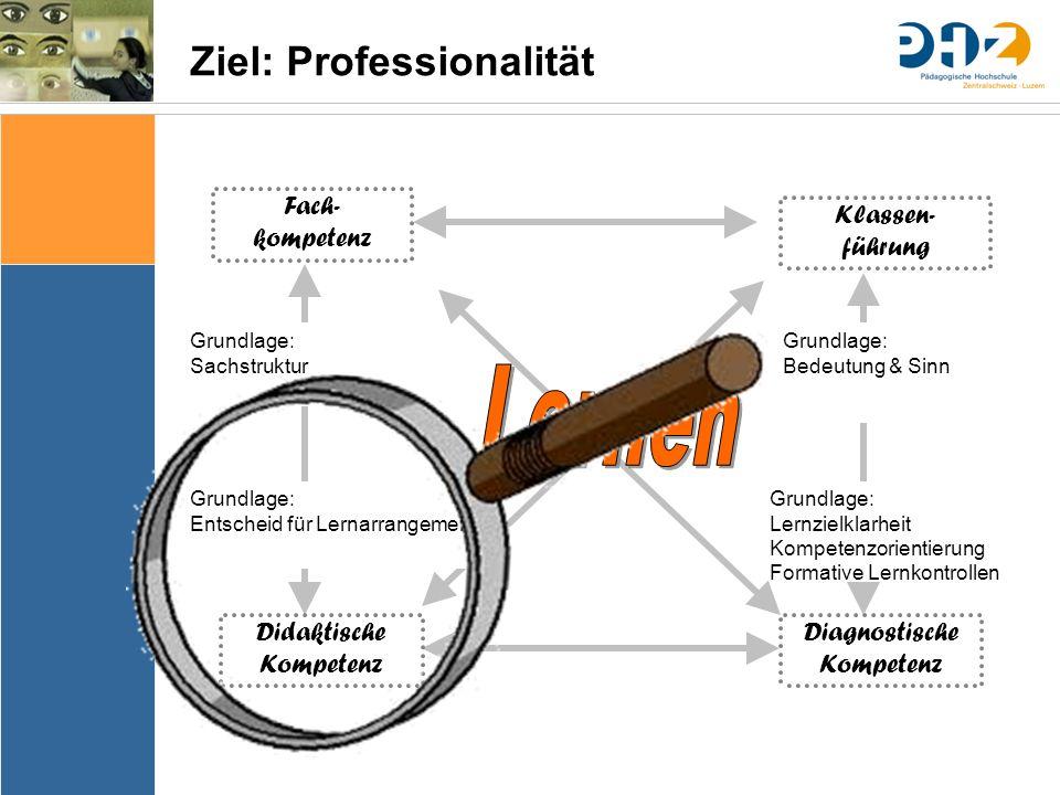 Sache Bedingungen Bedeutung & Sinn Thematik Lernziele Arrangements Ergebnissicherung Evaluation Fach- kompetenz Klassen- führung Didaktische Kompetenz