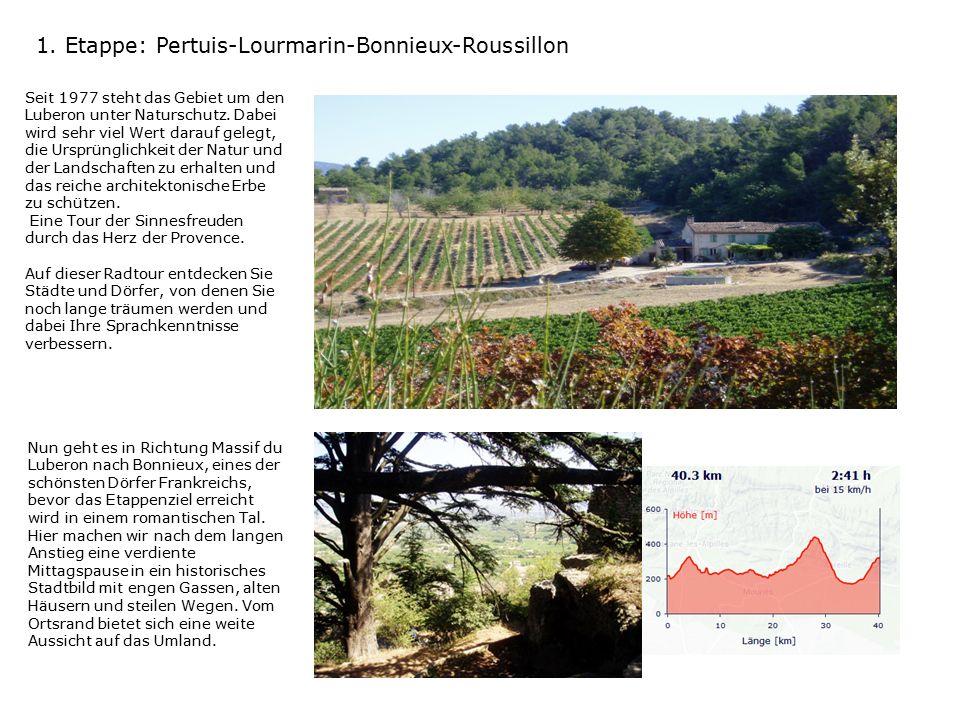 2.Etappe: Roussillon-Gargas-Apt-Roussillon Wir besichtigen die Mines von Broux.