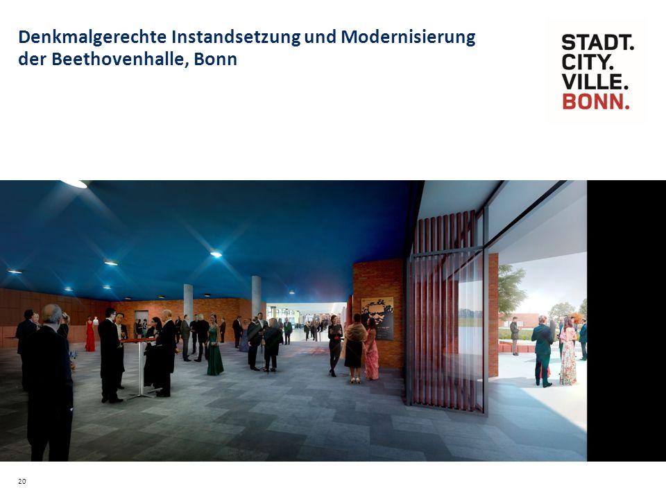 20 Denkmalgerechte Instandsetzung und Modernisierung der Beethovenhalle, Bonn