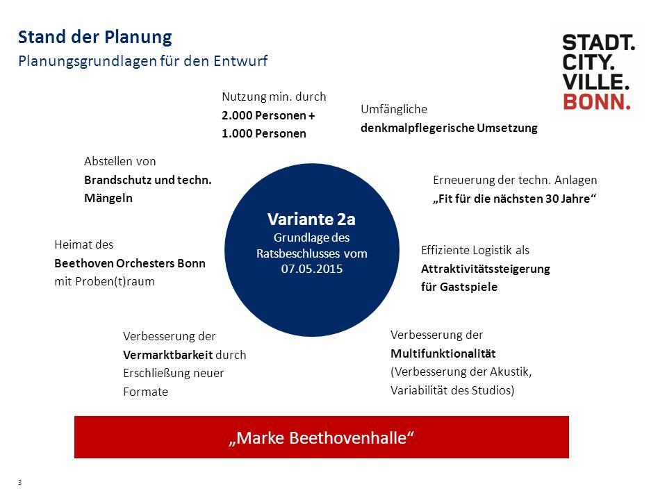 """Meilensteinplanung 4 Stand der Planung Entwurf Step 2 """"Entwurf Gestaltung + Funktion fertig / Ratssitzung """"Realisierungsbeschluss Entwurf Step 3 """"Koordiniert fertig (Kostenberechnung) Bauantrag Beginn Ausführungsplanung 1."""