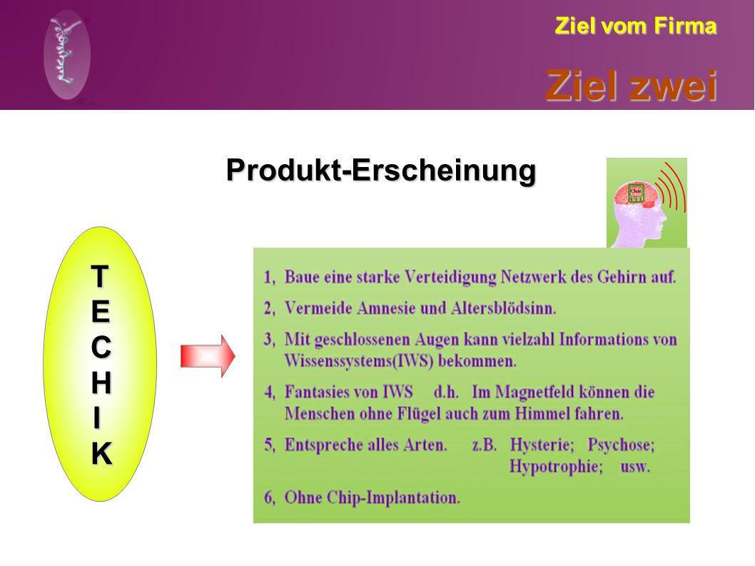 Ziel vom Firma Ziel zwei Produkt-Erscheinung TECHIK TECHIK TECHIK TECHIK