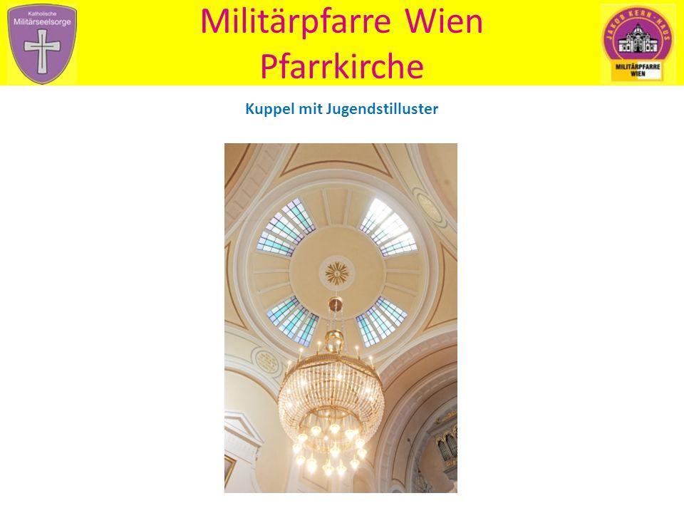 Militärpfarre Wien Pfarrkirche Blick zum Hochaltar