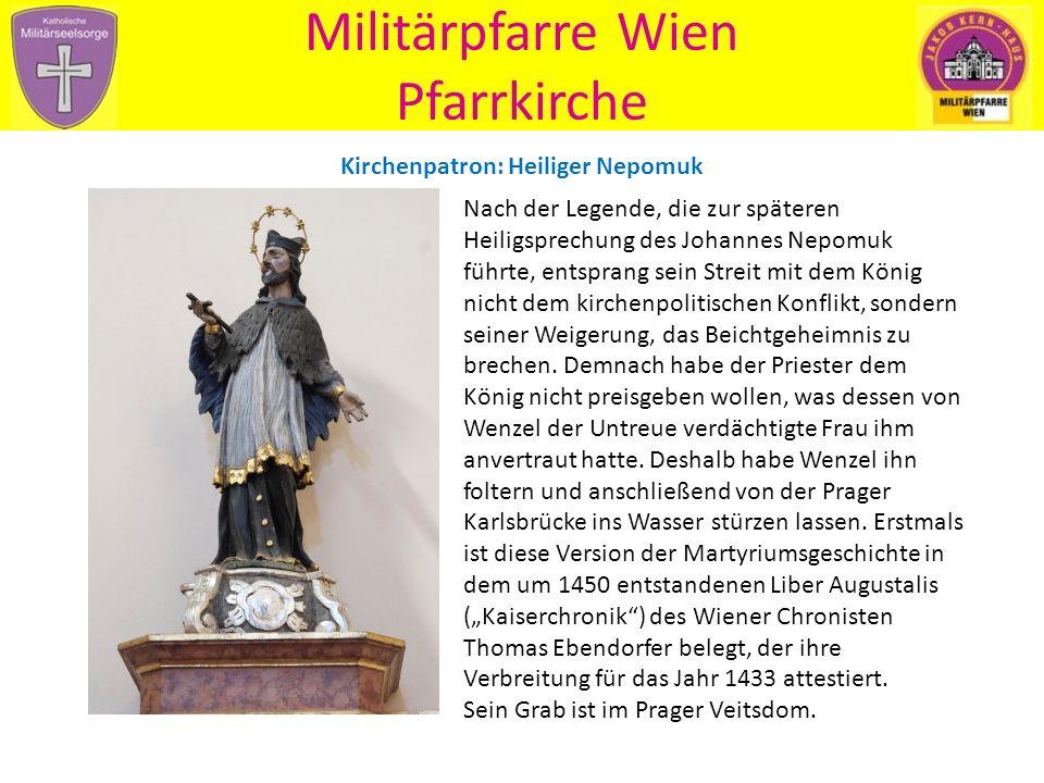 Militärpfarre Wien Pfarrkirche Kanzel
