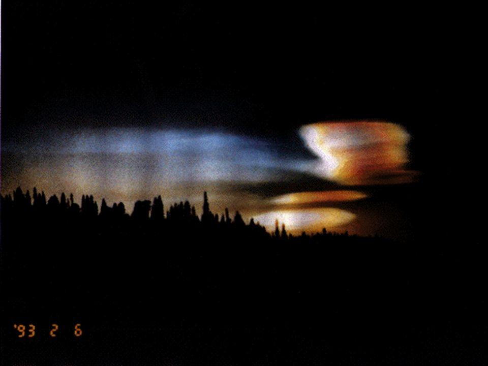 Stratosphärenwolken über der Arktis